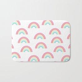 Rainbow pattern cute decor for kids room or nursery Bath Mat
