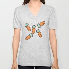 Carrot whimsical pattern Unisex V-Neck