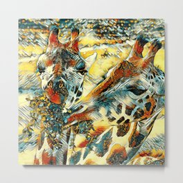 AnimalArt_Giraffe_20171203_by_JAMColorsSpecial Metal Print