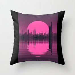 Sinking City Throw Pillow