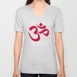 Om | The sound of creation - Hindu symbol, mantra, meditation and prayer Unisex V-Neck