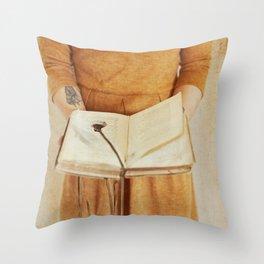 Secret Book Throw Pillow