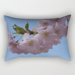 look up and see pink Rectangular Pillow