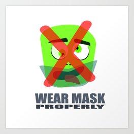 Protection mask on pandemic Art Print