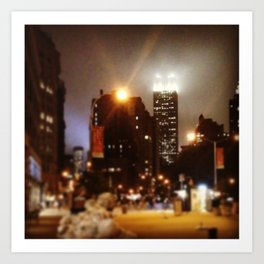Foggy view of the Empire state... Art Print