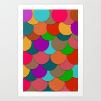 circles Art Prints featuring Circles.  by Eleaxart