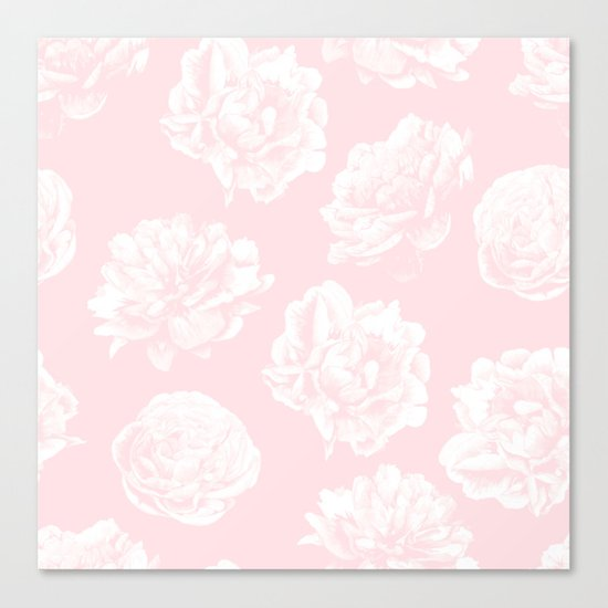 Pink Roses in Flamingo Pink Canvas Print