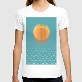 Minimalist Sunset Over Ocean, Vacation Print, Sun Set Poster, Large Printable Photography, Wall Art T-shirt
