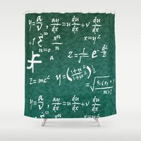 math Shower Curtains featuring Math Equations by WIGEGA