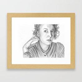 Portrait of a Woman Framed Art Print