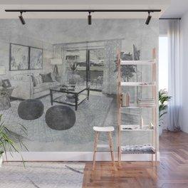 Living Room Interior Furniture Wall Mural