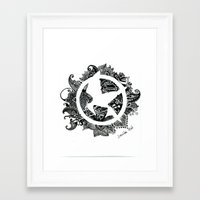 mockingjay Framed Art Prints featuring Mockingjay by Sketches D.