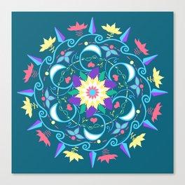 Lotus Waves Canvas Print