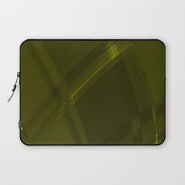 Metallic strokes with chaotic canary lines from intersecting glowing neon stripes. Laptop Sleeve