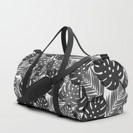 Tropical Shadows - White / Black Duffle Bag