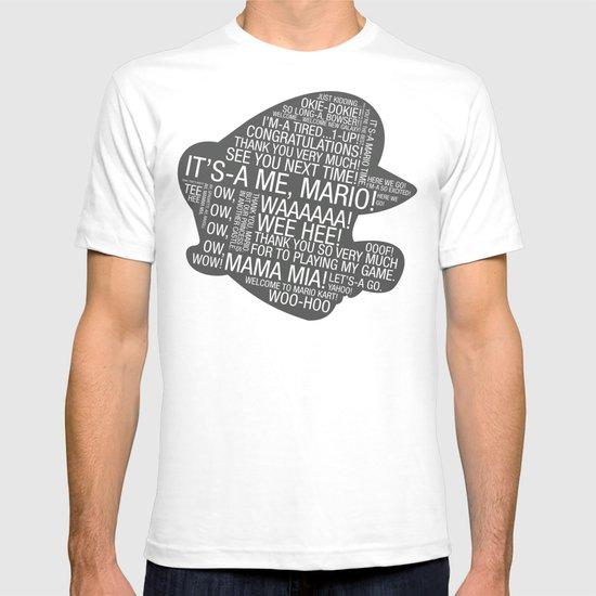 Super Mario Typography T-shirt