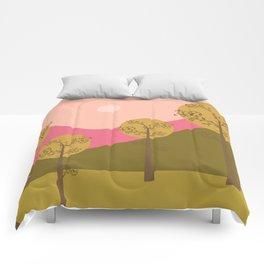 Kawai landscape autumn Comforters