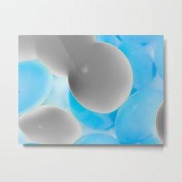 Neon Mono Metal Print