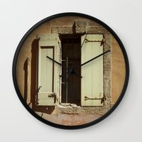 window Wall Clocks featuring Window by Maria Heyens