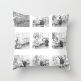 A Day in the Life of A Fairy Tale Bakery Throw Pillow