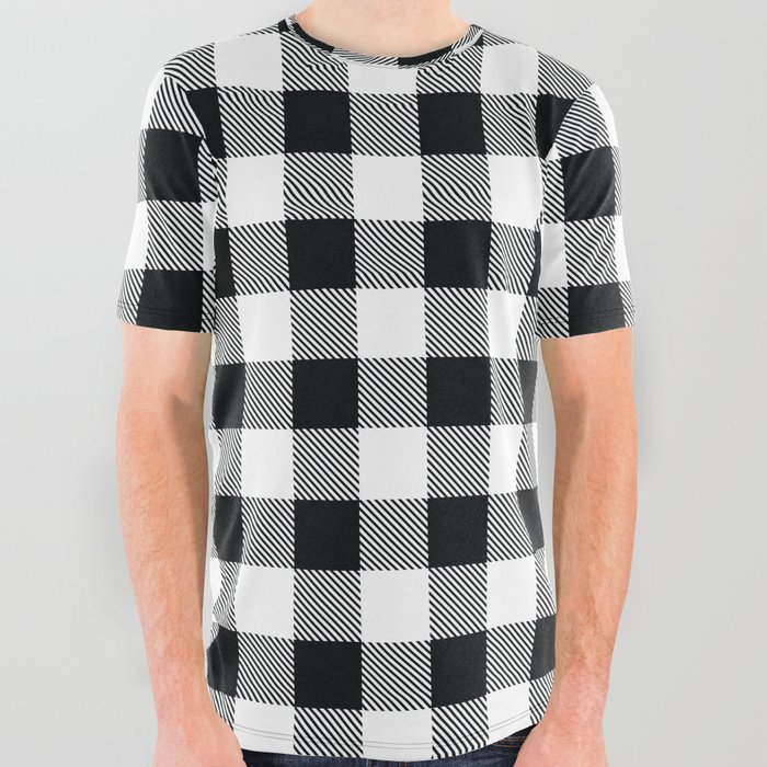 Buffalo_Check_Black_White_Plaid_Pattern_All_Over_Graphic_Tee_by_Eva_Graphics__Large
