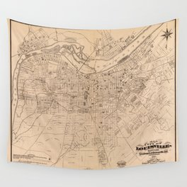 Map Of Louisville 1873 Wall Tapestry