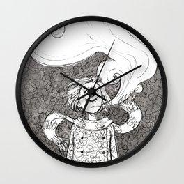 Winter Smoke Wall Clock