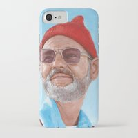 steve zissou iPhone & iPod Cases featuring Steve Zissou by BookOfFaces