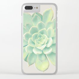 Orion(Yellow green) Clear iPhone Case