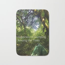 Camping Among the Trees Bath Mat