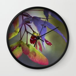 Japanese Maple Seeds Wall Clock