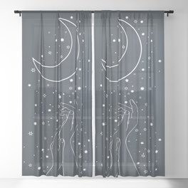 Reaching The Moon Sheer Curtain
