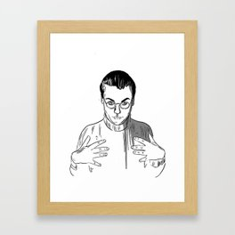 Would You Like To Touch My Monkey? Framed Art Print