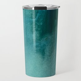Forest green teal hand painted watercolor ombre Travel Mug