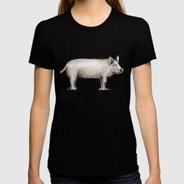 Pig, Farmhouse Painting, Rustic Watercolor T-shirt
