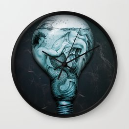 Trapped In This Idea - Aqua Wall Clock