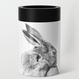 Black and white rabbit Can Cooler