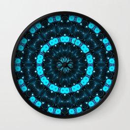 Folklore Cabin (blue) Wall Clock