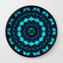 Folklore Cabin (blue) Wall Clock