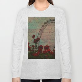 Poppies and Pink Skies Long Sleeve T-shirt