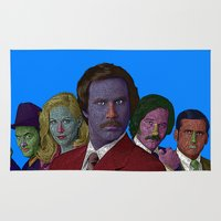 anchorman Area & Throw Rugs featuring Anchorman by CultureCloth