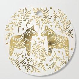 Swedish Dala Horses – Gold Palette Cutting Board