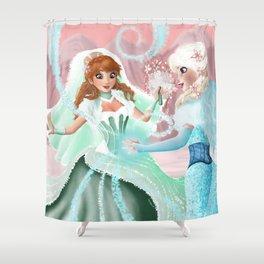 Anna and Elsa Shower Curtain