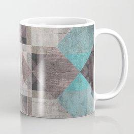 Aqua & Brown Quilt Coffee Mug