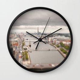 Dublin city center aerial view Wall Clock