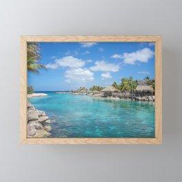 Scenic Tropical lagoon in Curacao Framed Mini Art Print