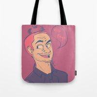 crowley Tote Bags featuring Crowley by The Art of Nicole