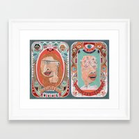 monster Framed Art Prints featuring Monster Focals by Valeriya Volkova