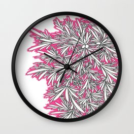 Black Growth with Pink Wall Clock