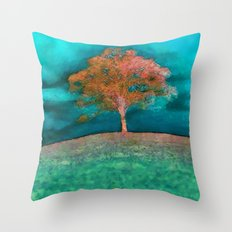ABSTRACT - solitary tree Throw Pillow